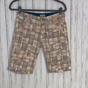 Size 4 Horny Toad Plaid Modest Shorts